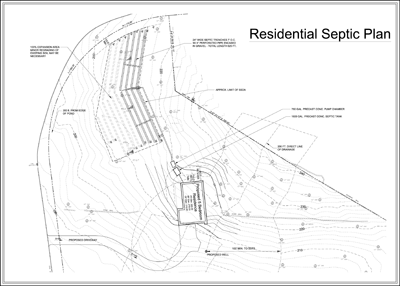 Septic system drawings on gravity septic system diagram